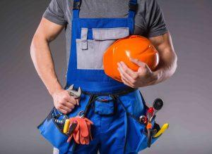 Tradesman with tools